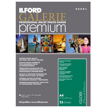 Ilford Galerie Premium Gloss Inkjet Paper (11x17 in. 25-sheets)