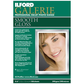 Ilford Galerie Smooth Gloss Inkjet Paper (4x6 100-sheets)