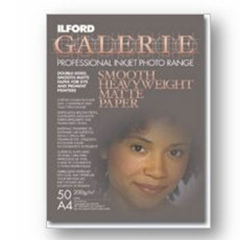 Ilford Galerie Professional Inkjet Paper, Smooth Heavyweight Matte (8.5x11 50-Sheets)