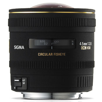 Sigma 4.5mm F2.8 EX DC HSM Lens for Canon
