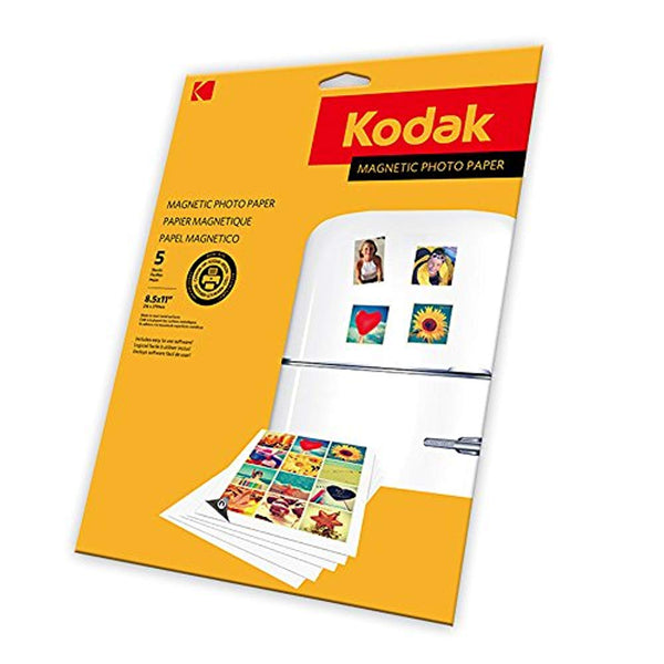 KODAK Magnetic Photo Paper - Magnetic backed Photo Paper, 4x6""