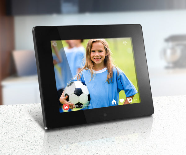 Aluratek 8 inch Digital Photo Frame with WiFi and Touchscreen LCD