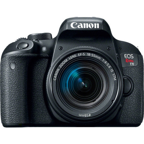 Canon EOS Rebel T7i DSLR with 18-55mm Lens and Essential Accessories