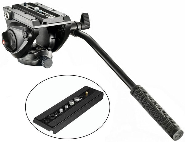 Manfrotto MVH500AH Pro Fluid Tripod Head and Quick Release Plates
