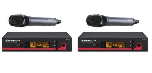 Sennheiser Bundle of 2 EW Wireless HandHeld Mic Systems, EW135 G3 G (566-608 MHz) True Diversity Rack Mount Wireless Microphone System