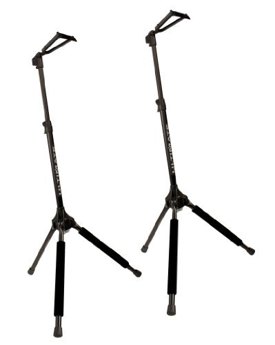 Ultimate Support A Guitar Must-Have: Ultimate Support GS-100 Height-adjustable Genesis Series Guitar Stand with Locking Legs, Hanging-style Yoke and Security Strap - 2 Pack