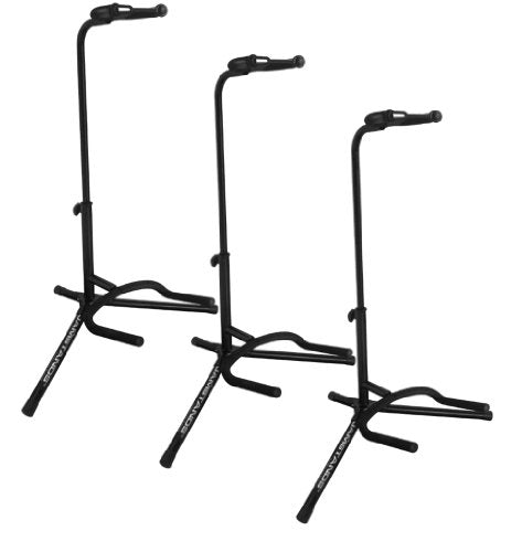 Ultimate Support JS-TG100 Tubular Guitar Stand Lite - Coated & Covered in Protective Rubber Where your Guitar Contacts the Stand to Protect its Finish - 3 Pack