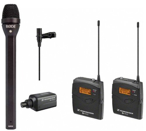 Sennheiser Interview - Presentation Kit: Sennheiser Wireless EW 100-ENG G3 Combo System and Rode REPORTER Dynamic Microphone for Interviews and Broadcasting