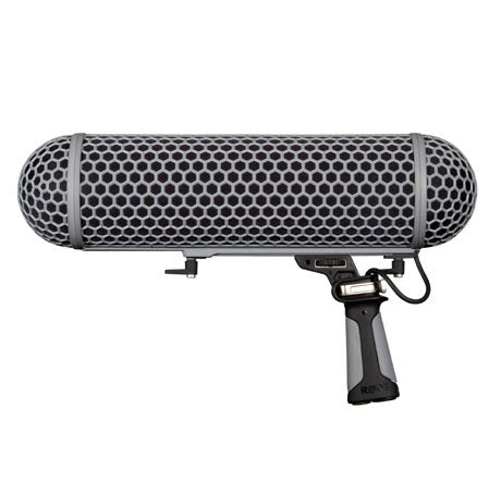 Rode NTG3 Directional Condenser Shotgun Microphone for Outdoor Use with Rode Blimp Windshield and Suspension for Shotgun Microphones