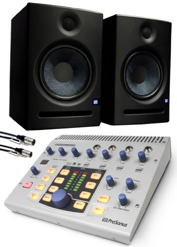 Presonus Monitor Station with Pair of PreSonous Eris E5 Monitors, 2 Comprehensive 10' Cables