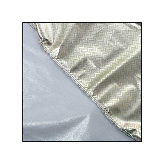 Calumet 42 x 42 (107 x 107cm) Gold-Silver Zigzag Panel Fabric
