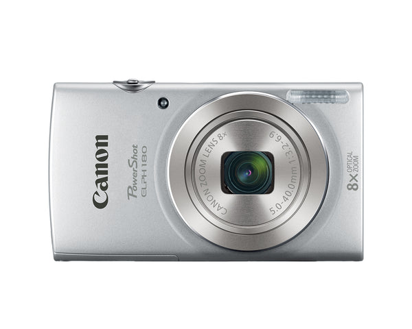Canon Canon PowerShot Elph 180 Digital Camera Kit (Silver) with Camera Bag, 12