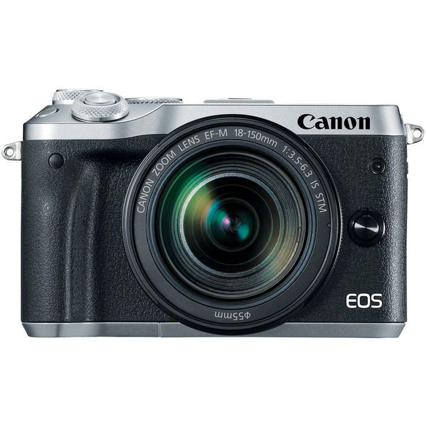 Canon M6 Mirrorless Camera with 18-150mm Lens Kit (Silver)