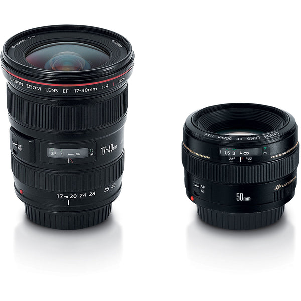 Canon Advanced Two Lens Kit with 50mm f-1.4 and 17-40mm f-4L Lenses
