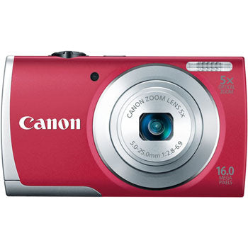 Canon PowerShot A2600 Compact Digital Camera (Red)