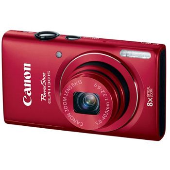 Canon PowerShot ELPH 130 IS 16MP Digital Camera with 8x Optical Zoom (Red)