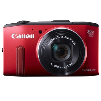 Canon PowerShot SX280 HS 12MP Digital Camera with 20x Optical Zoom (Red)