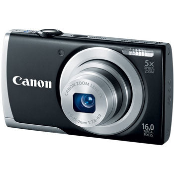 Canon PowerShot A2500 16MP Digital Camera with 5x Optical Zoom (Black)
