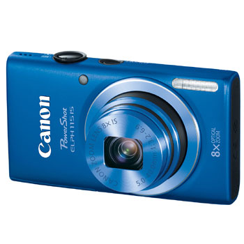 Canon PowerShot ELPH 115 IS 16MP Digital Camera with 8x Optical Zoom (Blue)