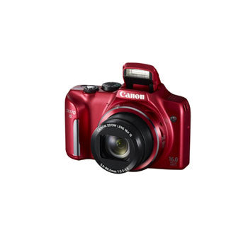 Canon PowerShot SX170 IS 16 MP Digital Camera with 16x Optical Zoom (Red)