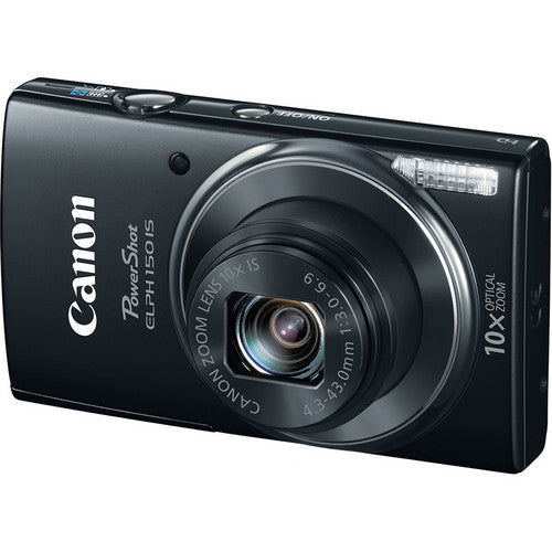 Canon PowerShot ELPH 150 IS 20MP 10X Digital Camera Black