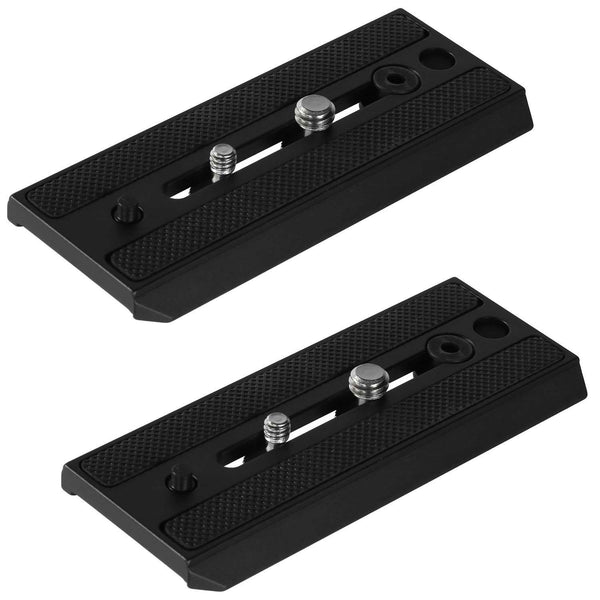 Ivation 2 Replacement Quick Release Plates for Manfrotto Tripod Heads