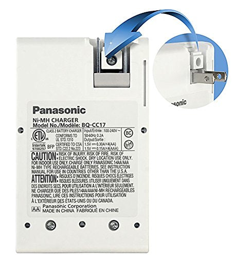 Panasonic Eneloop Charger with 4 Rechargeable AA Batteries