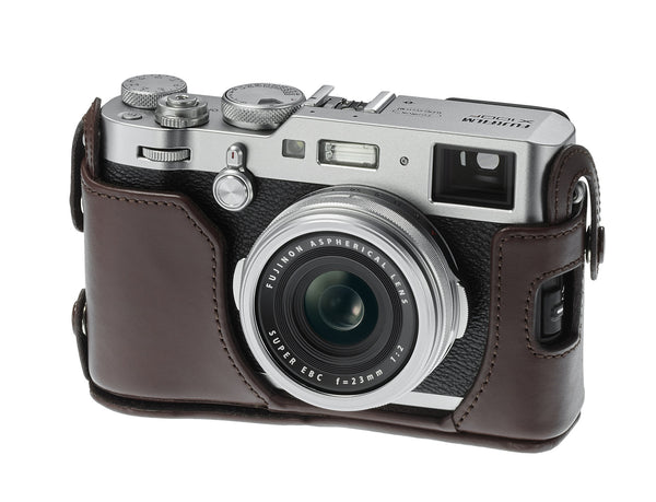 FujiFilm LC-X100F Leather Case with Strap for X100F (Brown)