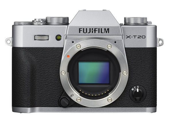 FujiFilm X-T20 Mirrorless Digital Camera Body (Silver) with 3 Essential Accessories