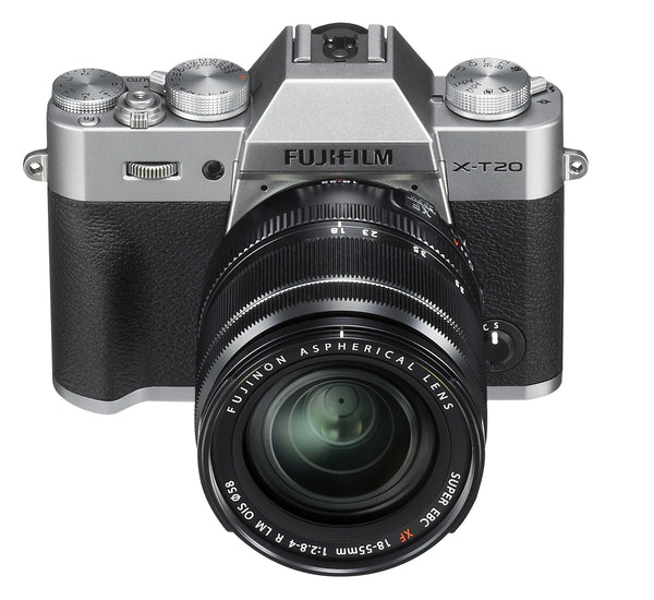 FujiFilm X-T20 Camera with 18-55mm and 3 Accessories (Silver)