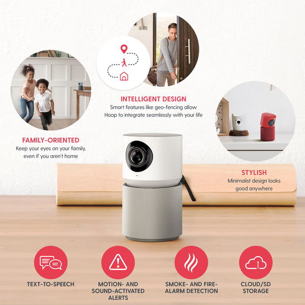 Hoop Cam Plus Home Security Camera (White)