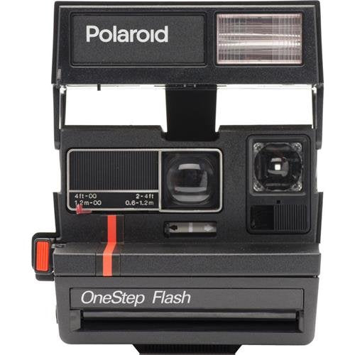 Impossible Polaroid 600 Camera, Red Stripe - Certified Refurbished