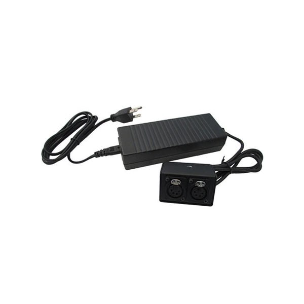 IndiPRO Tools 12V Power Supply with Two 4-Pin Female XLR Outputs (8ft)