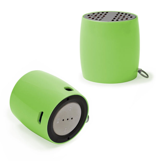 Ivation Portable Bluetooth Speaker + AUX Input & Built-In USB Rechargeable Battery (Green)