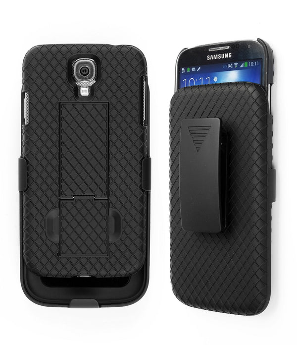 Jumbl Shell Holster Combo Case with Kick-Stand & Belt Clip for Samsung Note 3