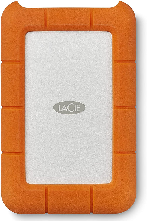 LaCie Rugged 4TB USB-C and USB 3.0 Portable Hard Drive (STFR4000400)