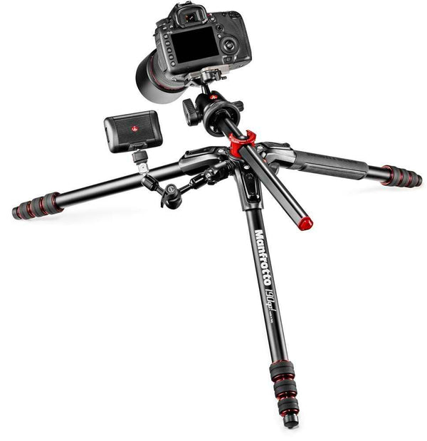 Manfrotto 190 GO! 4 Section Aluminum Tripod with Ball Head (Black)
