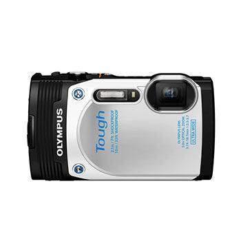 Olympus TG-850 Tough Waterproof 16MP Digital Camera (White)