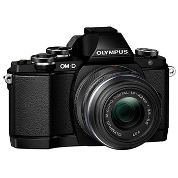 Olympus E-M10 Mirrorless Digital Camera with 14-42mm Lens Kit - Black