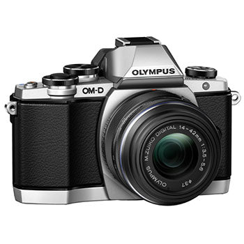 Olympus E-M10 Mirrorless Camera with 14-42mm Lens (Silver)
