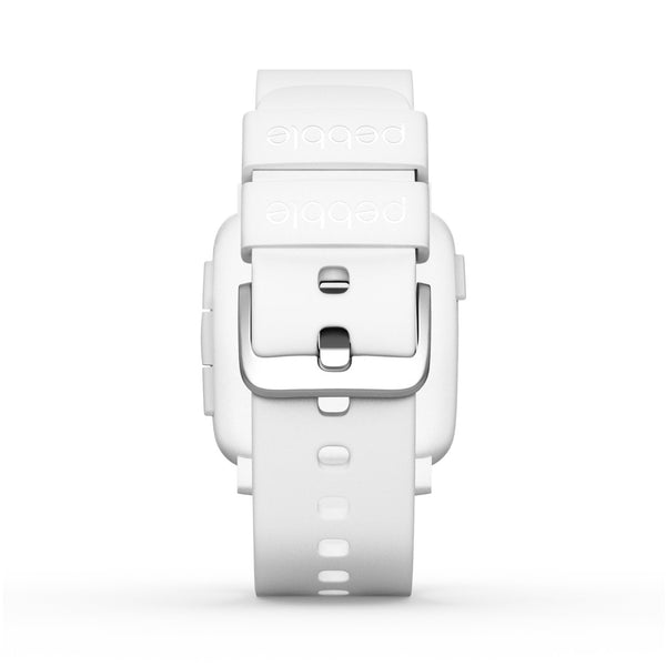 Pebble Time Smartwatch White for iphone and android