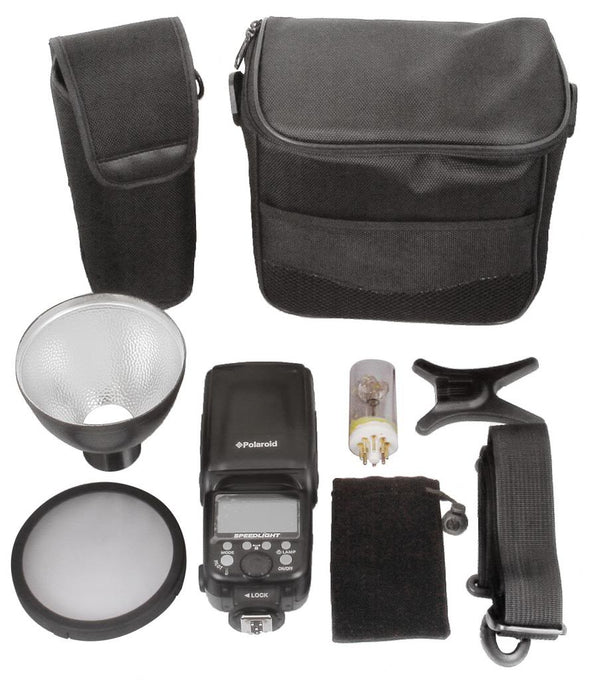 Polaroid #135 Bare Bulb Bounce & Swivel Flash for Canon Cameras