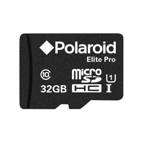 Polaroid 32GB Elite Pro MicroSDHC UHS-1 Card with Adapter