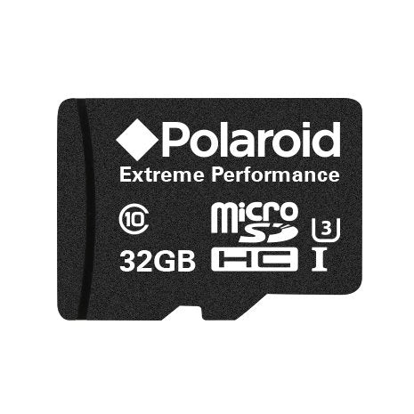 Polaroid 32GB Extreme Performance MicroSDHC UHS-1 Card with Adapter