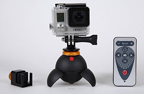 Polaroid Rechargeable Panorama Head with Remote Control and Mounts
