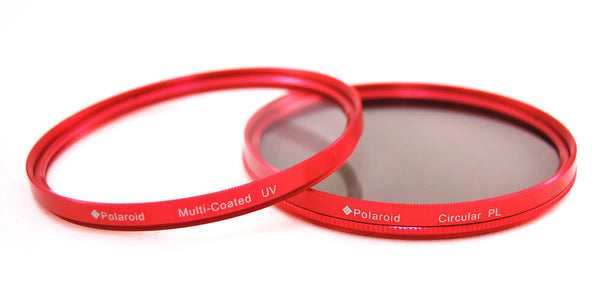 Polaroid Optics 58mm Multi-Coated Dual Filter Kit RED (MC UV, CPL)