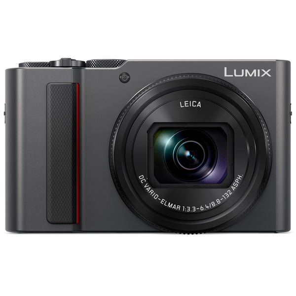 Panasonic LUMIX ZS200 Camera with 24-360mm F-3.3-6.4 LEICA DC Lens (Silver)