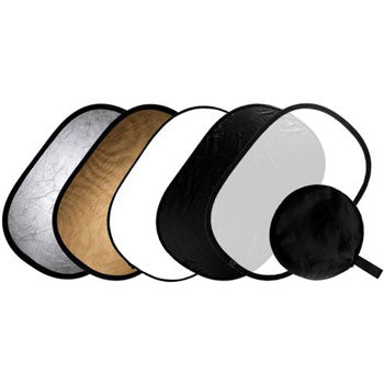 Ivation 5 in 1 40 x 60 Collapsible Oval Multi Disc Reflector Kit