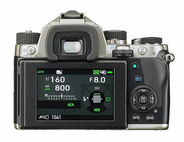 Pentax KP 24MP DSLR Camera Body (Silver)