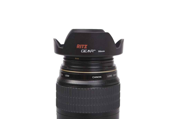 Ritz Gear 40.5mm Lens Hood Kit - Includes Lens Hood w-Proprietary Snap-On Ring, Lens Cap & Lens Cap Keeper